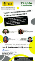 Tanoto Entrepreneurship Series in Partnership with MM FEB UI