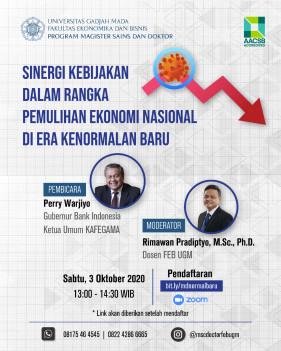 Sinergi Kebijakan Dalam Rangka Pemulihan Ekonomi Nasional di Era Kenormalan Baru