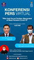 Rilis Hasil Survei Perilaku Masyarakat di Masa Pandemi Covid-19