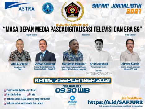 Kuliah Umum SJI: MASA DEPAN MEDIA PASCADIGITALISASI TELEVISI DAN ERA 5G