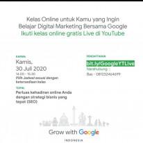 Kelas Online untuk Kamu yang Ingin Belajar Digital Marketing Bersama Google