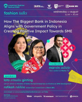 How The Biggest Bank in Indonesia Aligns with Goverment Policy in Creating Positive Impact Towards SME